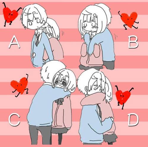 Kiểu ôm nào bạn thích nhất?