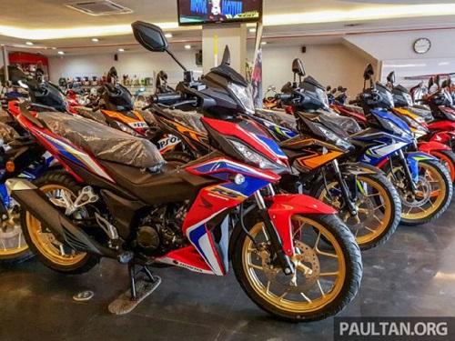2020 Honda RS150R V2 được phát hiện tại đại lý Malaysia