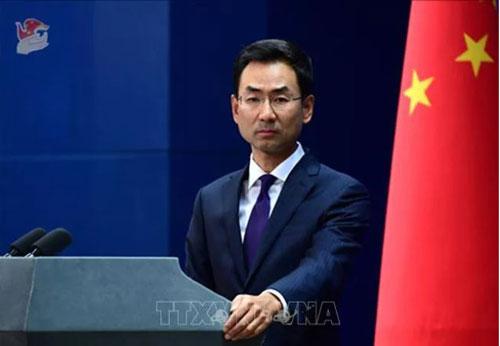 Người phát ngôn Bộ Ngoại giao Trung Quốc Cảnh Sảng. (Ảnh: THX/TTXVN)