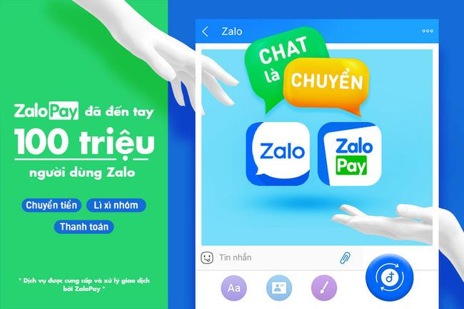 100 triệu người dùng Zalo có thể sử dụng các tính năng của ZaloPay như chuyển tiền, lì xì nhóm và thanh toán ngay trong Zalo.