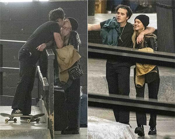 Brooklyn và nữ diễn viên tóc vàng mới hẹn hò được hơn một tháng nhưng đã quấn quýt không rời.Trong ảnh, cặp sao hôn nhau, tình tứ khoác vai cười nói trên sân băng ở London giữa tháng 12/2019. Nicola Peltz được biết đến với vai Katara trong bộ phim The Last Airbender năm 2010.