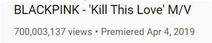 BLACKPINK có MV thứ 4 vượt mốc 700 triệu lượt xem - Ảnh 1.