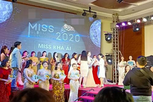 """Ban tổ chức """"Miss Global Her Beauty"""" bị thanh tra văn hoá lập biên bản. Ảnh: Báo Người lao động"""