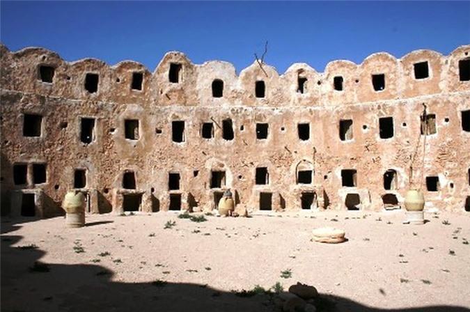 Vẻ đẹp của lâu đài cổ ở Libya