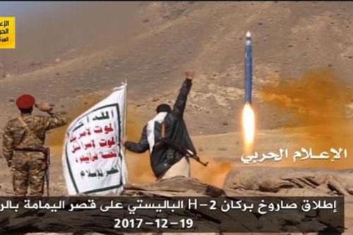 Houthi phóng tên lửa đạn đạo.