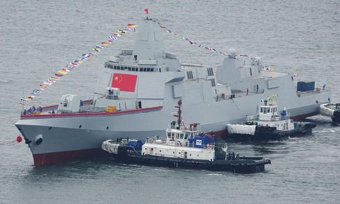 Tàu khu trục Type 055 của Trung Quốc. (Ảnh: Thời báo Hoàn Cầu)