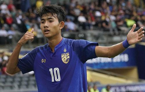 Suphanat thần đồng trẻ nhất U23 Thái Lan