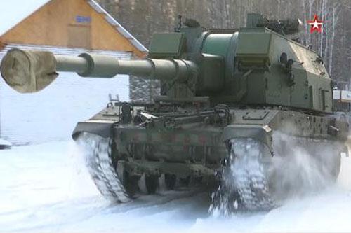 Nga thử pháo Coalition-SV.