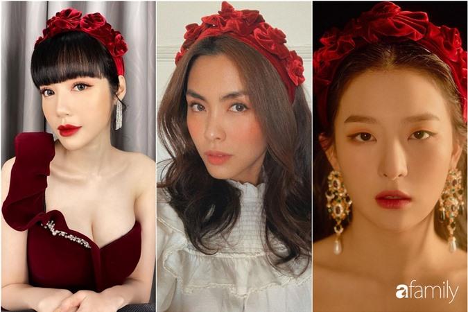 Elly Trần diệm bờm nhung đọ sắc cùng Hà Tăng, Seulgi: Người nền nã, người quý phái, người lại sexy hết phần thiên hạ - Ảnh 4.