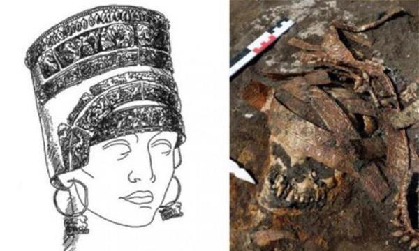 Phát hiện 4 hài cốt hàng nghìn năm tuổi chôn cùng chiếc mũ vàng - Ảnh 1.