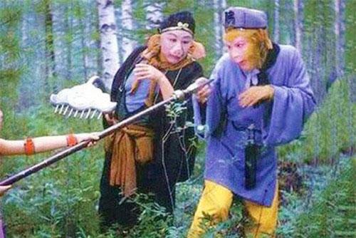 Tạo hình Trư Bát Giới và Tôn Ngộ Không trong phim Tây Du Ký.