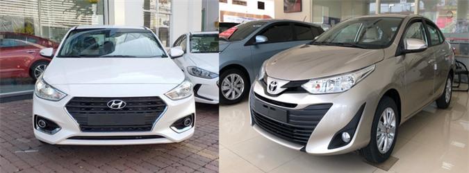 Toyota Vios và Hyundai Accent là