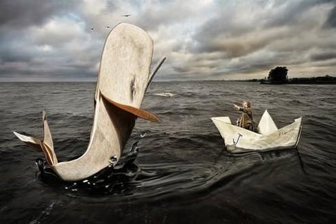 Cá voi trắng trong tiểu thuyết xưa kia.