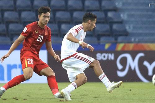 Việt Anh có tên trong đội hình xuất phát của U23 Việt Nam.