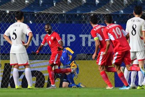 Bani Atieh (số 9) hy vọng tiếp tục ghi bàn trong trận gặp Việt Nam.