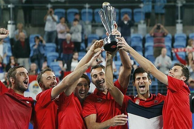 Novak Djokovic cùng ĐT Serbia giành chức vô địch ATP Cup 2020 - Ảnh 4.