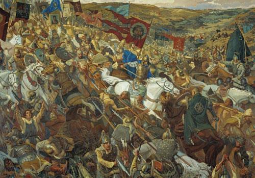 Diễn ra ngày 8/9/1380, trận Kulikovo được coi là trận đánh giáp lá cà đẫm máu nhất lịch sử nước Nga.