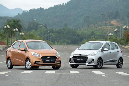 4. Hyundai Grand i10 (doanh số: 18.088 chiếc).
