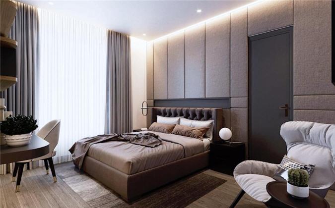 Phòng ngủ được thiết kế trang nhã, không quá cầu kỳ. Đây là nơi Cao Thái Hà nghỉ ngơi, thư giãn sau một ngày làm việc bận rộn.