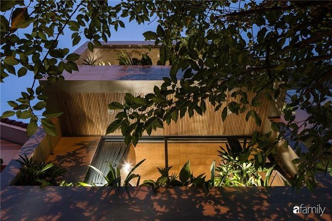 Ngôi nhà phố đẹp tinh tế với bản hòa tấu giữa vật liệu gỗ và ánh sáng ở Quy Nhơn dành cho gia đình 4 người - Ảnh 2.