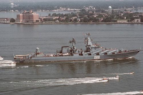 Hải quân Nga cho biết, họ đã khẩn trương cử tàu tuần dương tên lửa Nguyên soái Ustinov lớp Slava tới bờ biển Syria, con tàu vừa trải qua quá trình hiện đại hóa và được cho là sở hữu sức mạnh vượt trội.