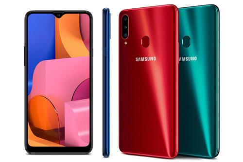 Samsung Galaxy A20s phiên bản ROM 64 GB (5,39 triệu đồng xuống 4,99 triệu đồng).