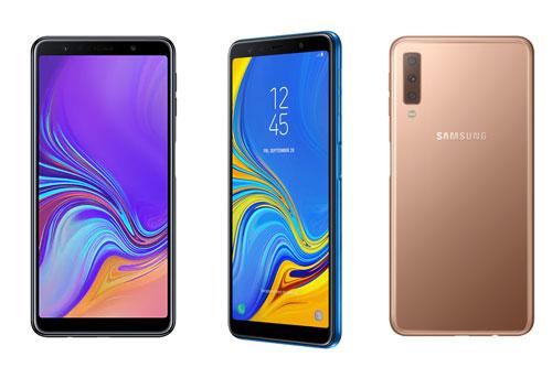 Samsung Galaxy A7 2018. Phiên bản ROM 128 GB từ 7,99 triệu đồng xuống 6,99 triệu đồng. Phiên bản ROM 64 GB từ 6,99 triệu đồng xuống 5,99 triệu đồng.