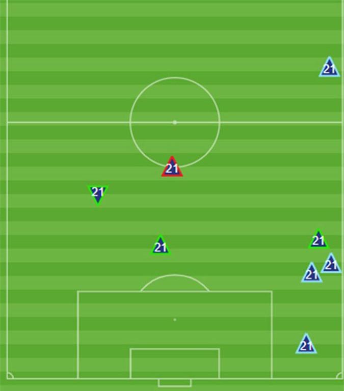 Đình Trọng chỉ mắc lỗi đúng 1 lần khi phòng ngự ở trận gặp U23 Jordan - Thống kê: Opta