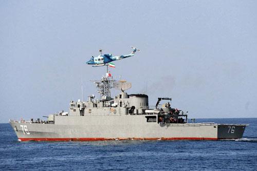 Iran đã hạ thủy tàu khu trục nội địa Jamaran thuộc lớp Mowdge vào năm 2010; đến thời điểm hiện tại, Hải quân Iran đã có 5 tàu lớp này, đây là những tàu mặt nước mạnh nhất trong Hải quân Iran hiện nay.
