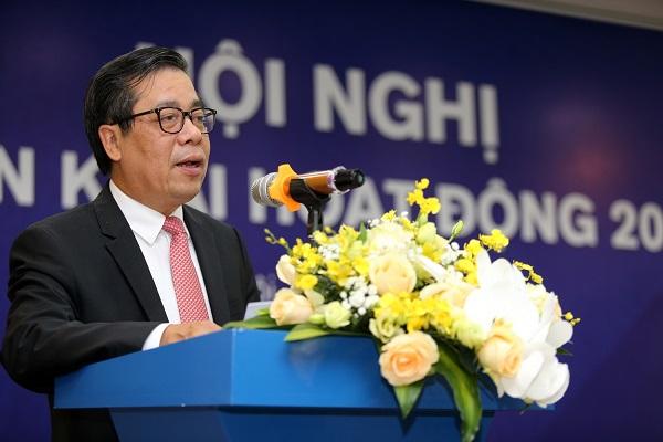 Ông Nguyễn Kim Anh, Phó Thống đốc Ngân hàng Nhà nước phát biểu tại Hội nghị triển khai nhiệm vụ năm 2020 của NAPAS.