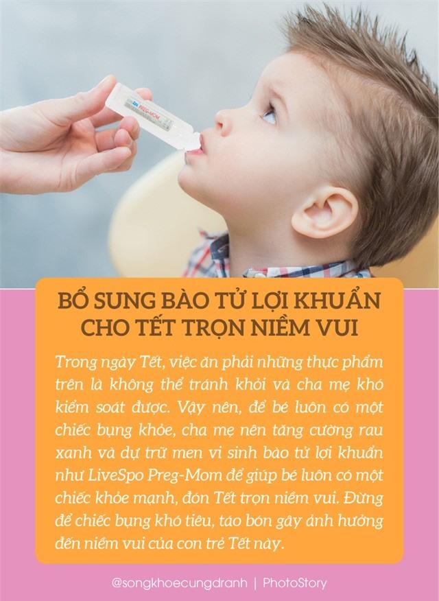 6 thực phẩm ngày Tết khiến bé bị rối loạn tiêu hóa - Ảnh 7.
