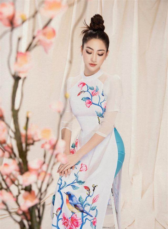 Lương Thùy Linh đẹp say lòng người với bộ ảnh áo dài Tết - Ảnh 11.