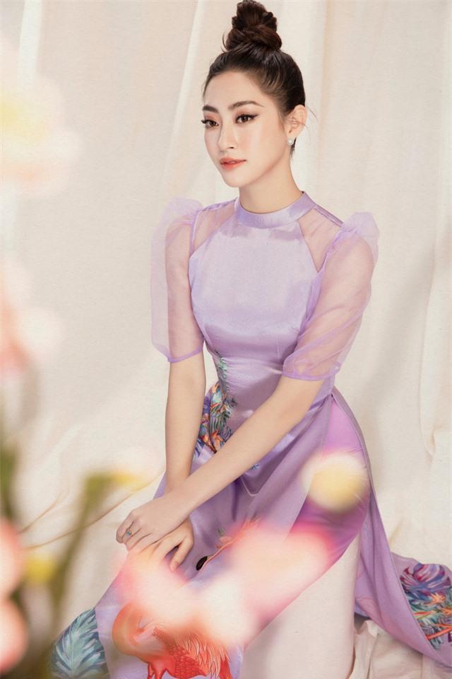 Lương Thùy Linh đẹp say lòng người với bộ ảnh áo dài Tết - Ảnh 13.