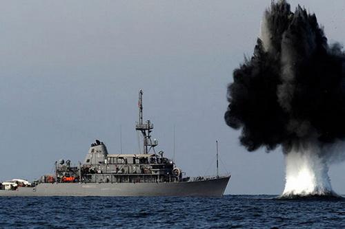 Hải quân Ukraine sẽ tạo lập mạng lưới thủy lôi để ngăn tàu chiến Nga xâm nhập lãnh hải. Ảnh: TASS.