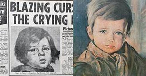 """CLIP: Lời nguyền bí ẩn trong bức tranh """"Cậu bé khóc"""" khiến nhều người """"rùng mình"""""""