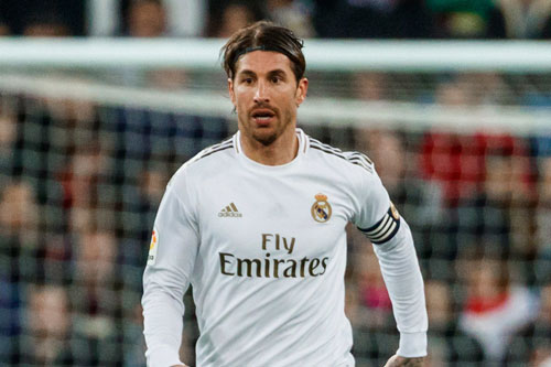 =3. Sergio Ramos (mức lương: 200.000 bảng).