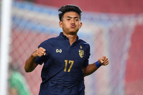 Tiền vệ phải: Suphanat Mueanta (U23 Thái Lan).