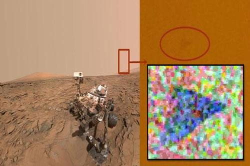 Phi hành gia phát hiện UFO tam giác trên sao Hỏa
