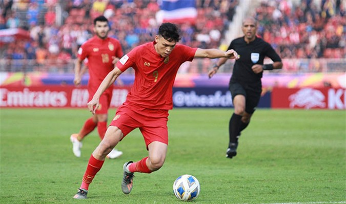 U23 Thái Lan tạo ra nhiều sức ép về phía khung thành của U23 Saudi Arabia - Ảnh: SMM Online