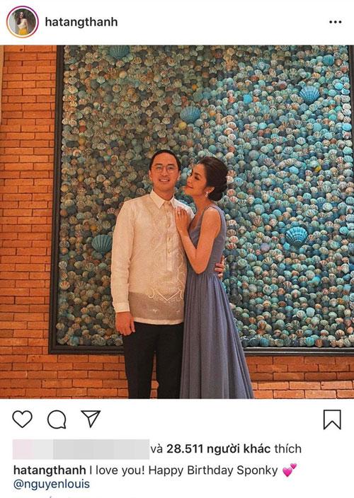 Tăng Thanh Hà chúc mừng sinh nhật chồng
