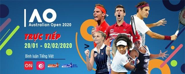 VTVcab trực tiếp Australian Open 2020, độc quyền bình luận tiếng Việt - Ảnh 1.