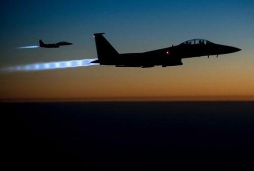 Máy bay chiến đấu Mỹ trên bầu trời Iraq. Ảnh: US Air Force.