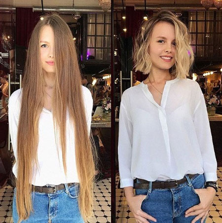 Tóc ngang cằm: Kiểu tóc đẹp này khá dễ chịu bởi nó phù hợp với hầu như tất cả hình dạng khuôn mặt. Với kiểu tóc ngắn này, bạn sẽ trở nên năng động, trẻ trung và tươi mới hơn nhiều.