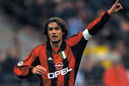 7. Paolo Maldini (AC Milan, 135 trận).