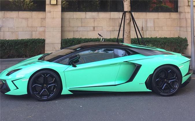 Chiếc Lamborghini Aventador khi còn nguyên vẹn. Ảnh: FBNV.