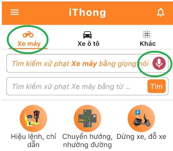 iThong – App tra cứu mức phạt giao thông bằng giọng nói