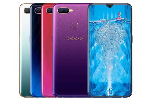 Oppo F9 (4,49 triệu đồng xuống 3,99 triệu đồng).