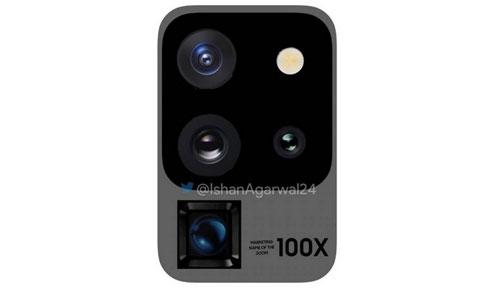 Cụm camera trên Galaxy S20 Ultra