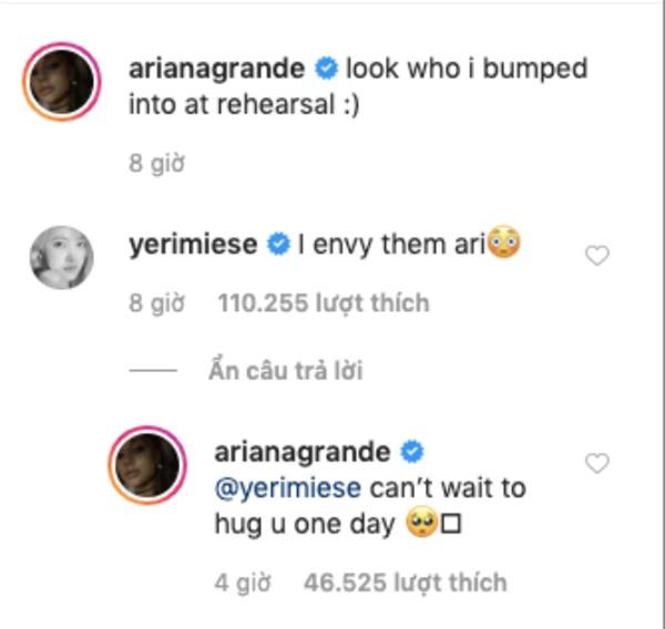 Bức ảnh Ariana Grande và BTS tại hậu trường Grammy 2020 vẫn chưa hết hot, tất cả là nhờ bình luận của em út Red Velvet - Ảnh 2.
