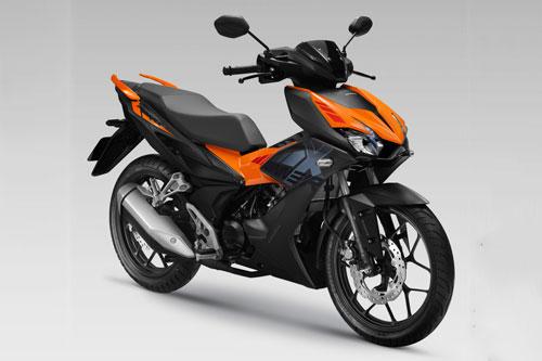 Cận cảnh Honda Winner X màu đen cam, giá 45,99 triệu đồng tại Việt Nam
